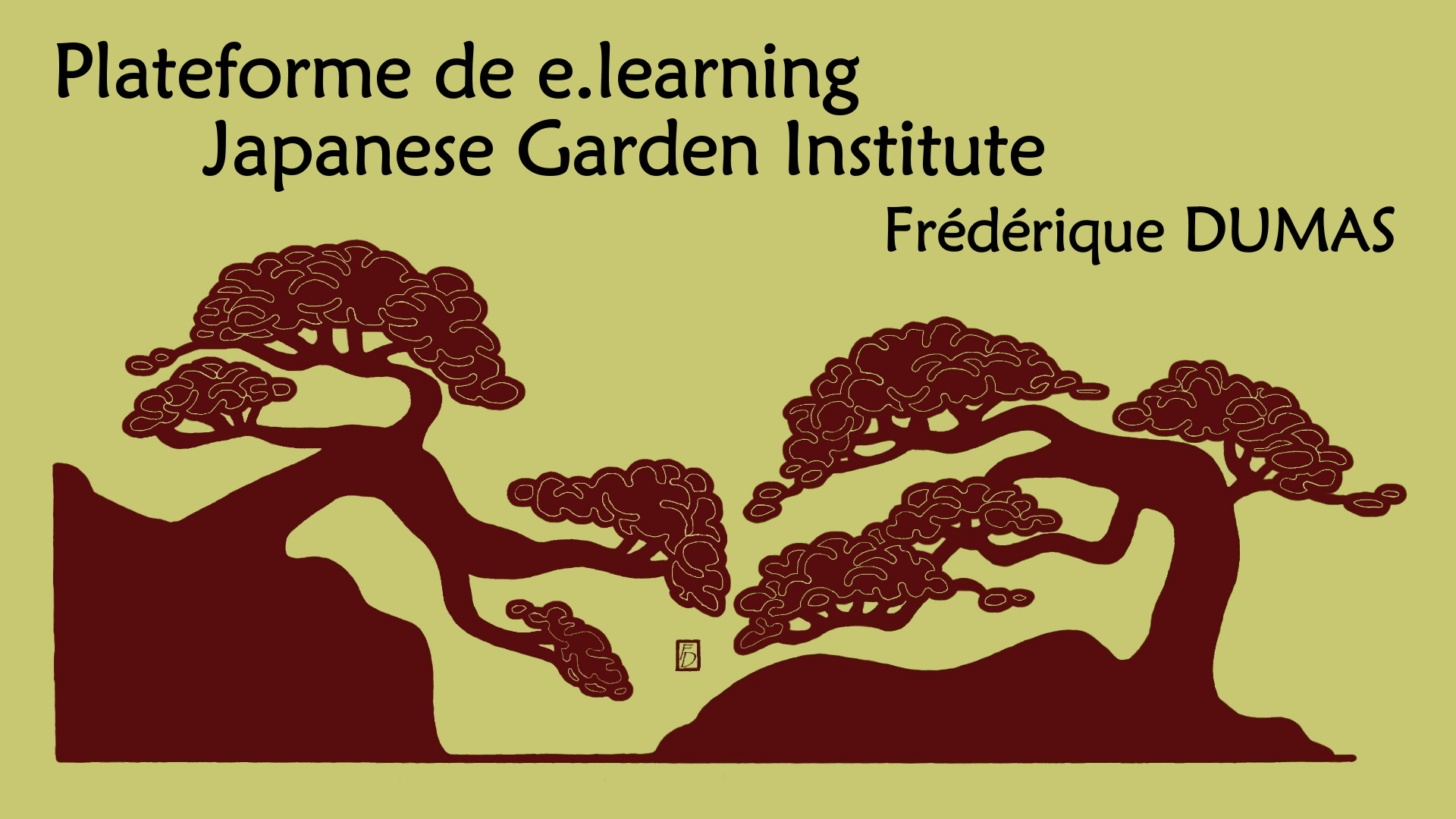 plateforme de e-learning - japanese garden institute